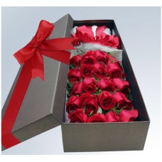 20 Stems Red Rose in Gift Box